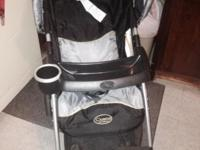 HI. UP FOR SALE IS A COSCO JUVENILE STROLLER SEMI-USED