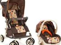 Stroller: 1-hand fold, stands on its own Child snack