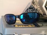 Costa Del Mar Brine 580 Black frame Blue mirror lens