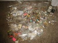This is a very large lot of costume jewelry. There are