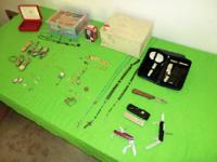 Costume jewelry and jewelry boxes, 8 watches, include
