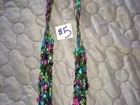 Several pieces of jewelry - necklace, bracelet,