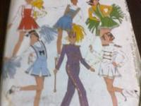 COSTUME PATTERNS BIBLICAL SIZE 36 - 38, CHEERLEADER OR
