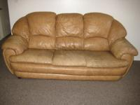 tan leather couch for sale! We are moving on Saturday