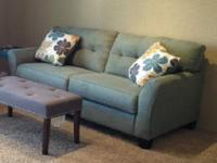Green Corduroy Ashley Couch. I love this couch, but I
