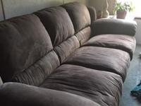 Beautiful 1 yr old microfiber full size couch just like