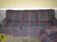 I have a matching couch and chair for sale. They are