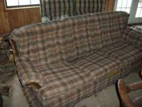 COUCH AND CHAIR AND OTTOMAN $50 COUCH FOLDS OUT INTO A