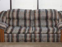 Up for sale are couch and love seat of Ashley furniture