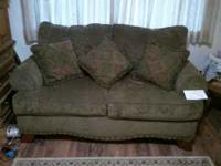 Like new couch and love seat with Olive/Brown color.
