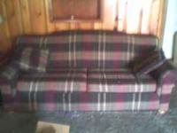 I am asking $100.00 for couch and matching chair $25.00