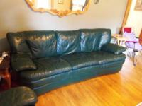I have a Dark green leather couch and matching recliner