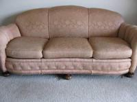 Antique Rose Colored Sofa-EXCEPTIONAL CONDITION! Gently