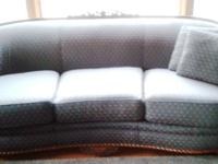 Antique, Carved, completely reupholstered, couch/chair