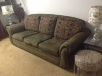 Hi, I have an olive green couch for sale it's in great
