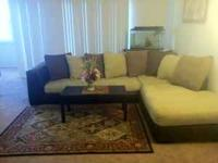 Beautiful L Sectional Couch for sale. Bought just last