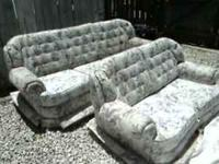 couch and loveseat, very nice and clean no rips or