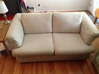 Gently used love seat, clean. It has no stains and has