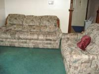 Matching Couch & Loveseat Good Condition Multi colors