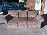 Light Brown/Dark Brown Couch and Loveseat Diamond