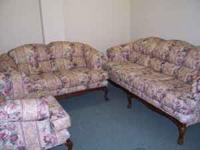 Chair, Loveseat, and Couch for sell asking 125.00.