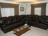 couch loveseat sectional set leather recliner like new