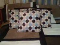 THROW PILLOWS FOR BED OR SOFA $15 FOR ALL 3 NON SMOKING