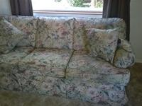 Comfy pillow back sofa, 7-feet long, Great condition,