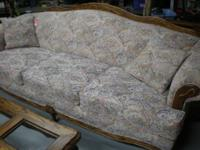 Nice couch with Southwestern material, clean, no rips