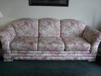 COUCH WITH FLORAL DESIGN   $150 (North Bellingham)