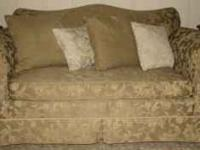 This couch and loveseat were custom made in Hickory,
