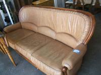Leather Italian Sofa. Earth tone leather and gorgeous