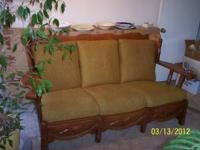 1. Hard Rock Maple Couch $125 2. Couch & Chair Set made