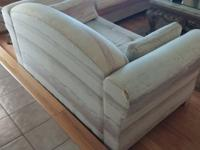 Couch and love seat for sale. Won't lie, the love seat