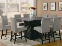 Counter height dining table. Can seat 8Black,