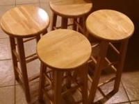 Set of 4 wooden stools bought from Menards about 4