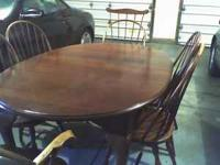 Table and 6 chairs-- Country French Style/ New England