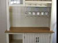 Beautiful country hutch in off white cream color. Top