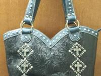 . Country Road cross cowboy boot western purse for