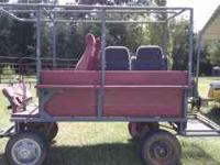 5x10 horse drawn covered wagon. Works single or double.