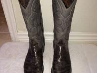 Men's size 8D Tony Lama Grey Lizard This ad was posted