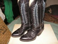 This pair of Fancy beautifully stitched boots are Black