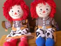 For sale is a doll set of Cowboy & Cowgirl Raggedy Ann