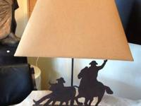 Cowboy Lamps Great for your western decor. 2 Available
