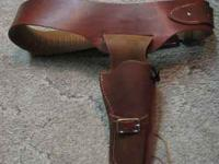 Oklahoma Leather Drop Loop Holster & Cartridge belt for