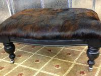 Cowhide Hair on Hide Footstool Footrest - $289.  GO TO