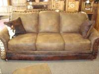 4pc cowhide living room set, microfiber sofa with