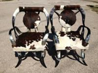 We have a great selection of cowhorn furniture covered