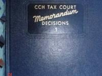 FOR SALE 120 VOLUMNS CCH TAX COURT DECISIONS - COMPLETE