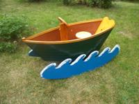 Recently built and finished cradle boat that converts